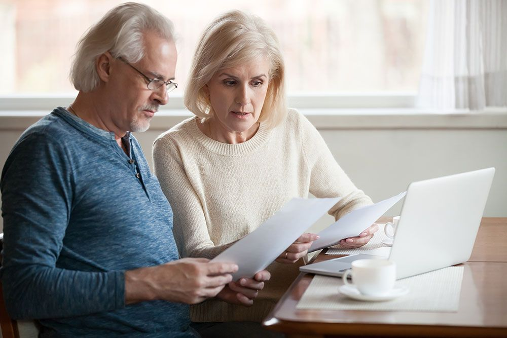 Older Couple Reviewing Finances